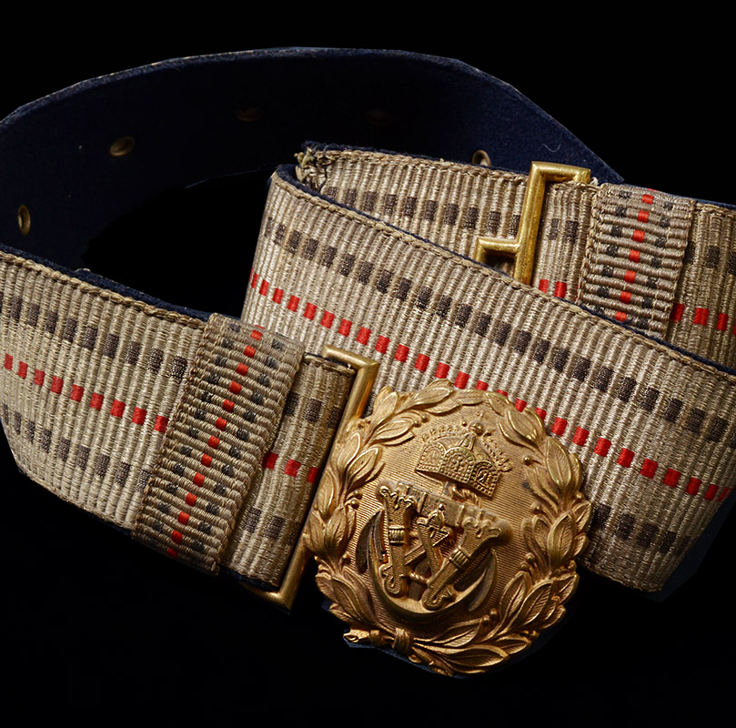 Imperial German Marine Brocade Belt & Buckle.