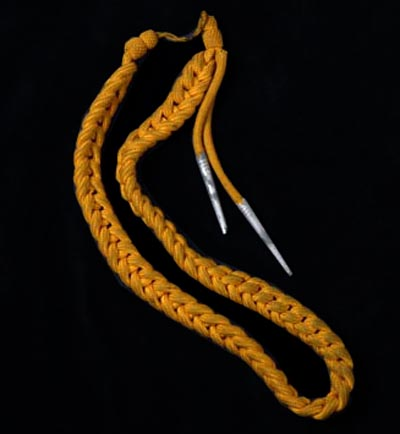Luftwaffe Yellow Service Badge Cords.