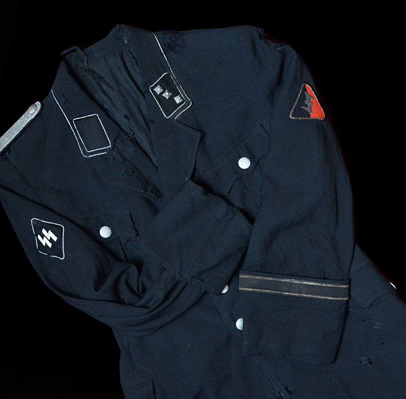 Dutch Germanische-SS Officer Tunic & Visor Cap.