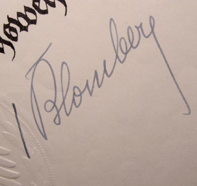 Werner Von Blomberg | General | Minister For War | Signature x 2