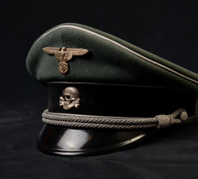 Waffen-SS General Rank Peak Visor Cap | Double-Erel.