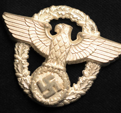 Police Wreathed Eagle & Swastika Badge.