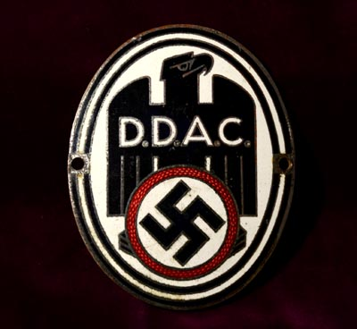 D.D.A.C Vehicle Plaque.
