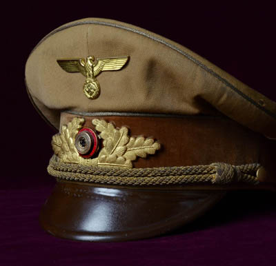 NSDAP Reichsleiter Visor Cap | Interesting Provenance.