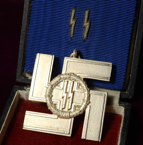 SS 12 Year Long Service Cross Silver | Cased | Extreme Rarity.