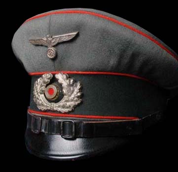 Heer Artillery NCO (Private Purchase) Peak Visor Cap. Made By Erel - Rare 'Ideal' Class.