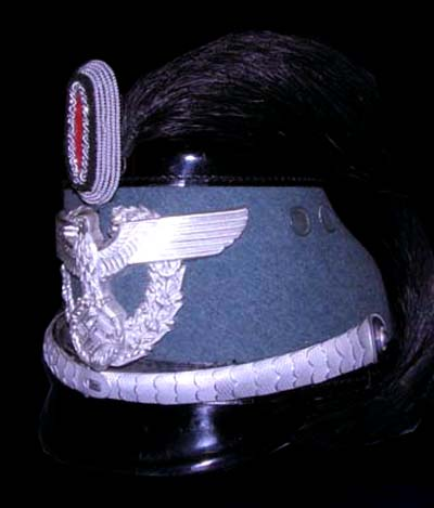 Polizei Officers Shako. Made By Erel. Full Dress Plume