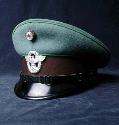 Polizei OR/NCO peak visor cap manufactured by Alkero