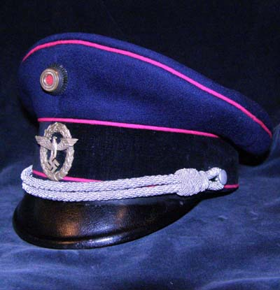 Fire Polizei. Officer's Peak Visor Cap . 1934-36