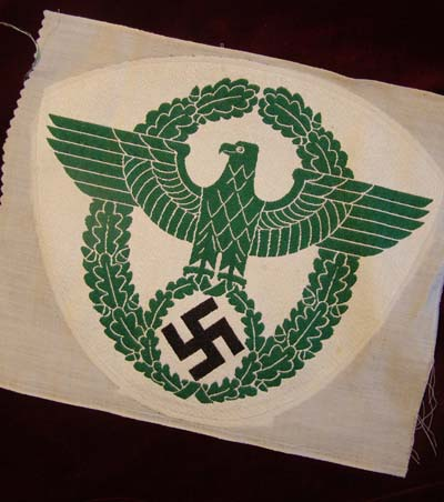 Polizei BeVo woven sports wreathed eagle & swastika