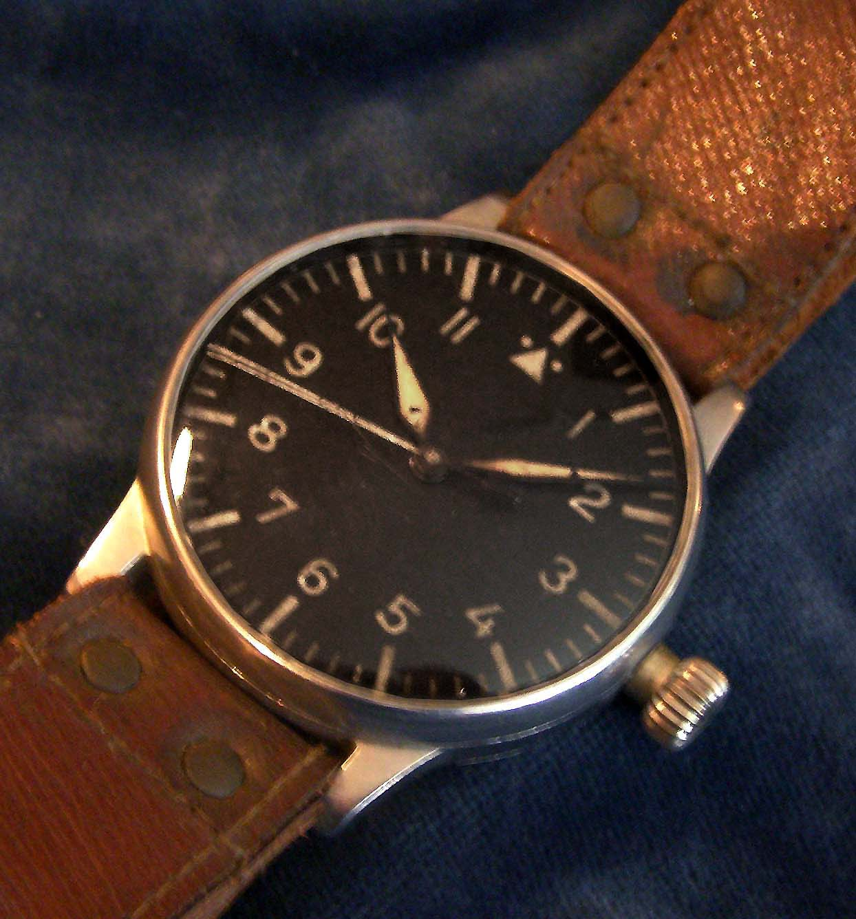 Luftwaffe Observer Watch By Lange & Söhne. Original Strap. Earliest known.