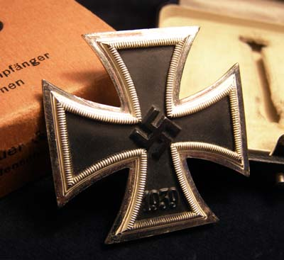 Iron Cross 1st Class. Cased. Made By Steinhauer & Lueck. No 4. Outer Packaging.